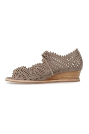 Jeffrey Campbell Taupe Perforated Wedge - Product Mini Image