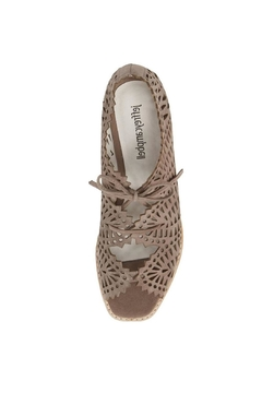 Jeffrey Campbell Taupe Perforated Wedge - Alternate List Image