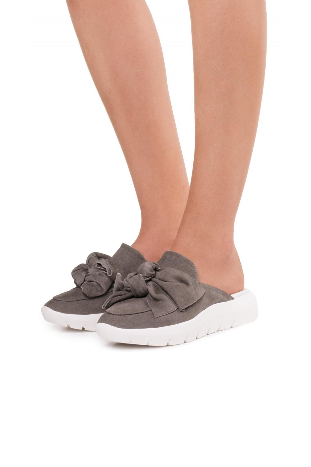 Jeffrey Campbell Taupe Sneaker Mule - Front Full Image