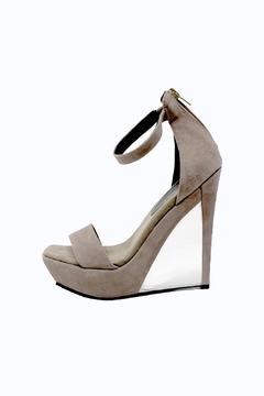 Jeffrey Campbell Taupe Suede Stilleto - Product List Image