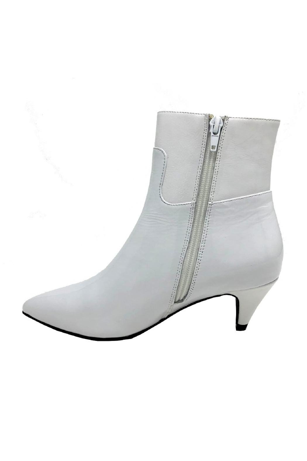 Jeffrey Campbell White Patent Boot - Front Full Image