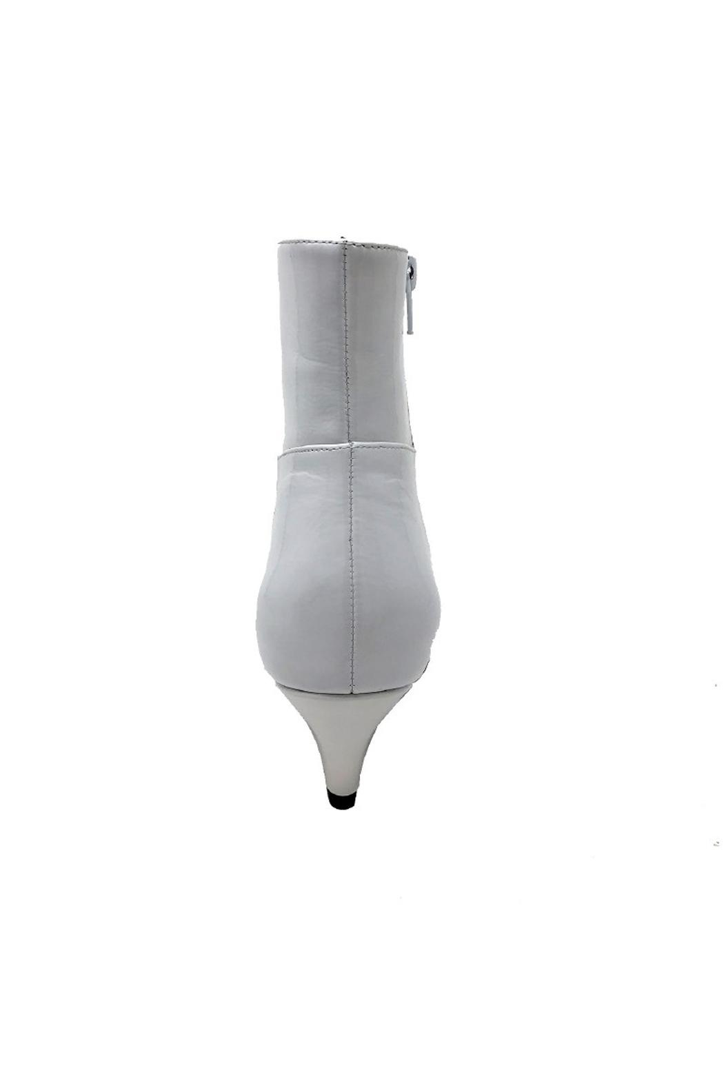Jeffrey Campbell White Patent Boot - Side Cropped Image