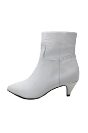 Jeffrey Campbell White Patent Boot - Front cropped