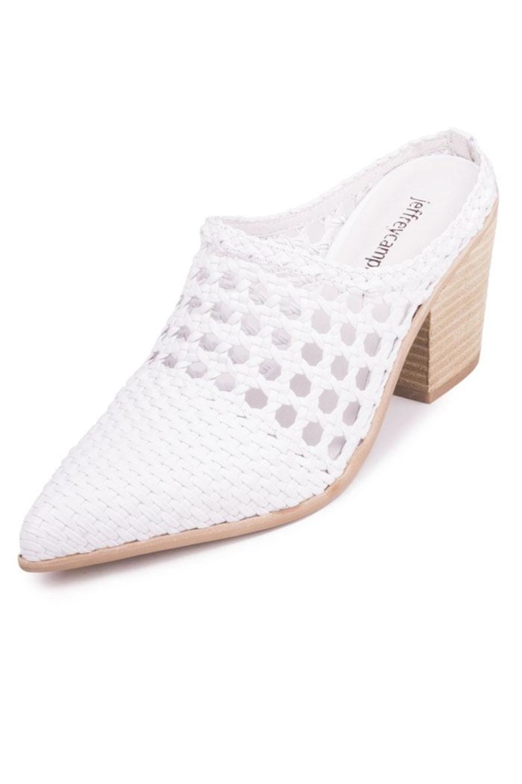 Jeffrey Campbell White Woven Mule - Front Full Image