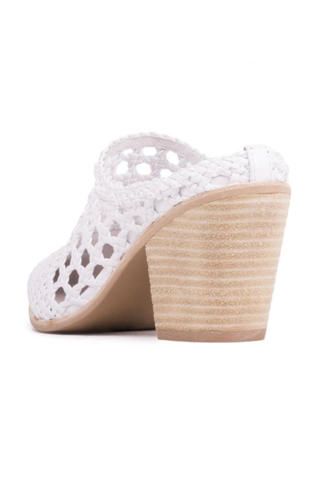 Jeffrey Campbell White Woven Mule - Side Cropped Image
