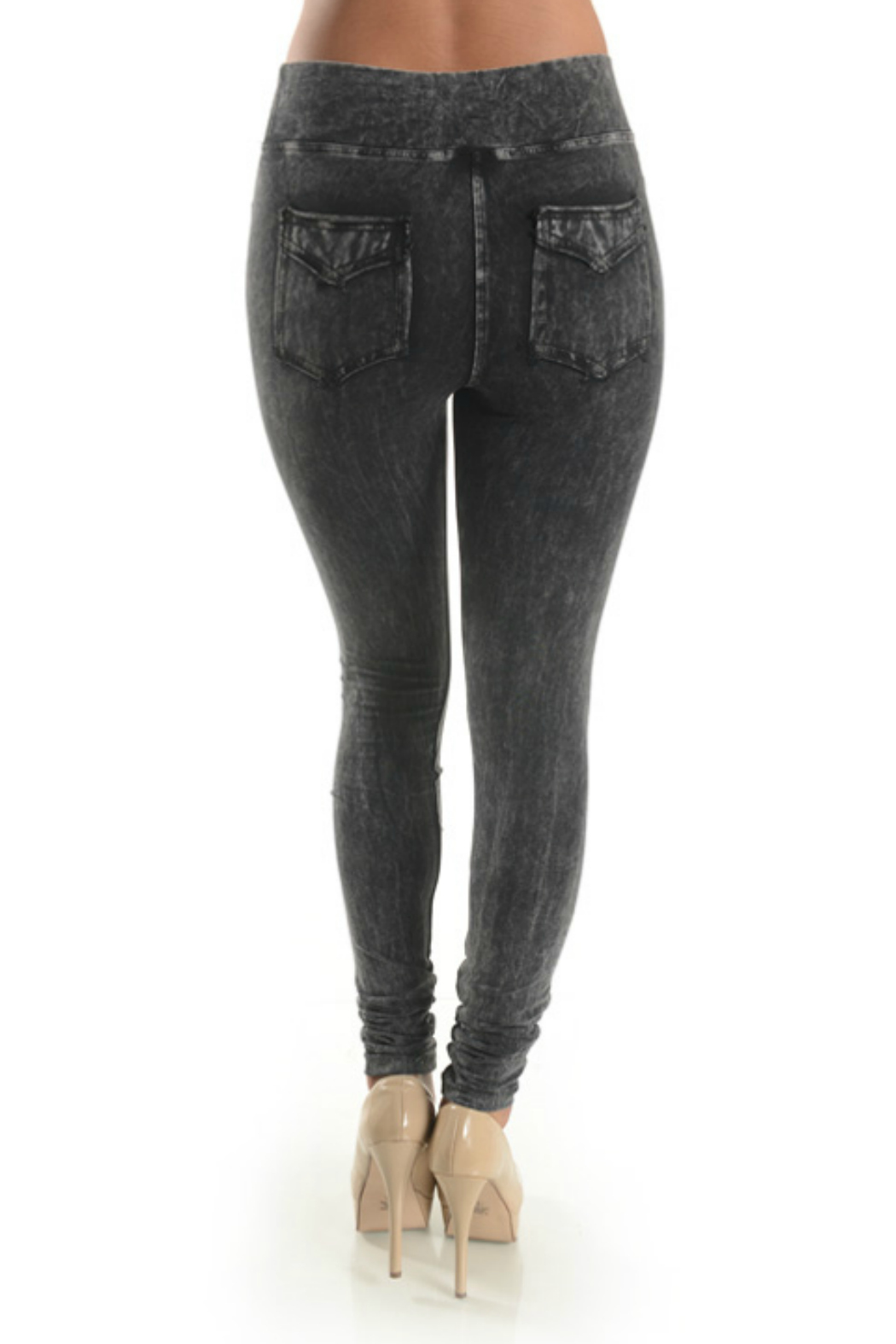 T Party Jegging with Back Pocket - Side Cropped Image