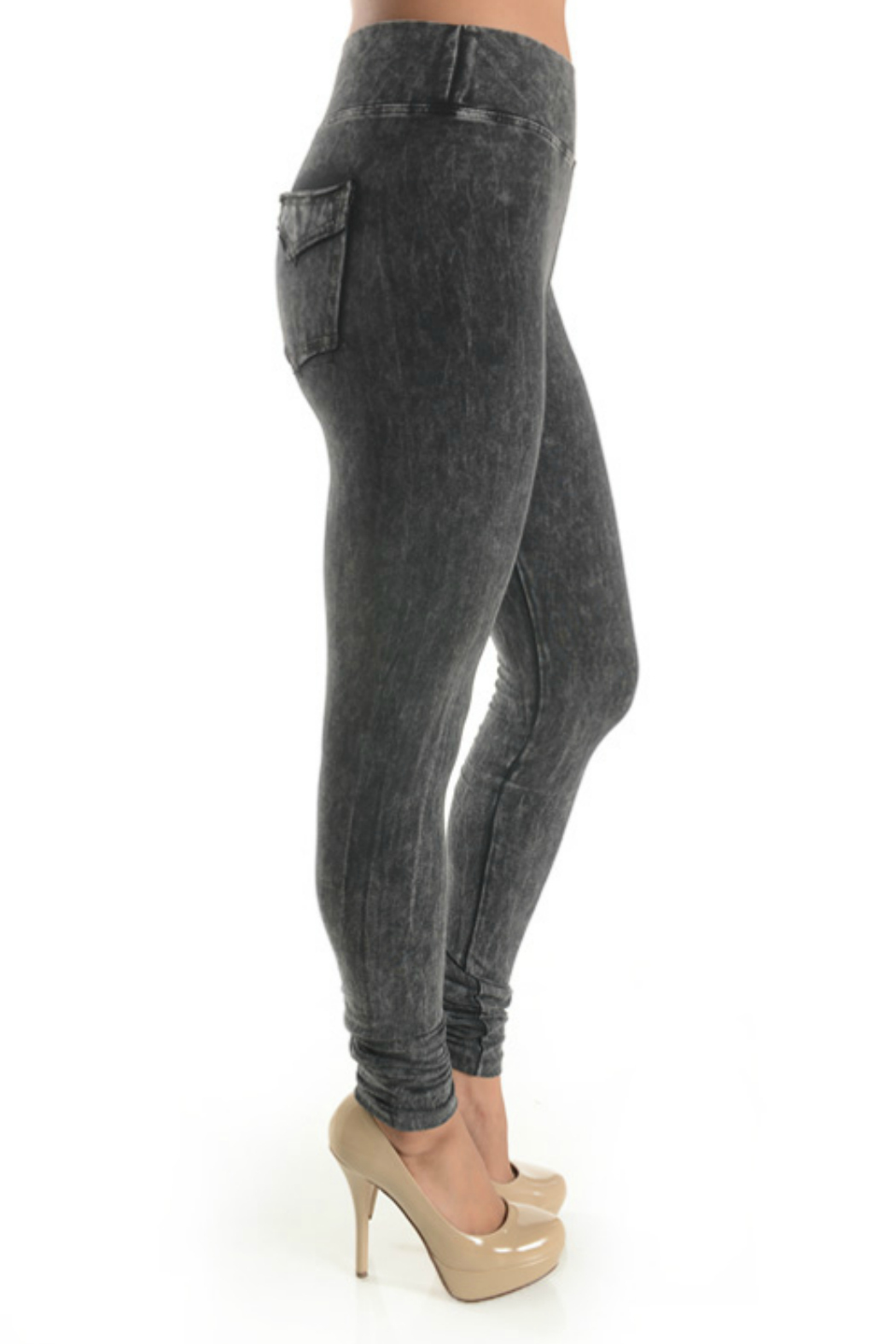 T Party Jegging with Back Pocket - Front Full Image