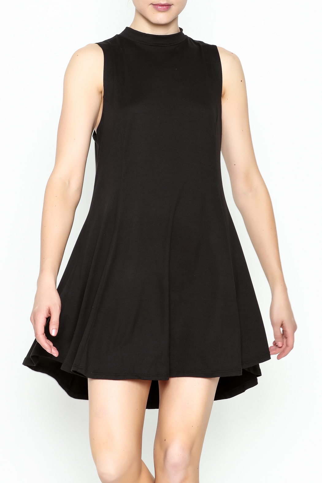 jella c Open Back Skater Dress - Front Cropped Image