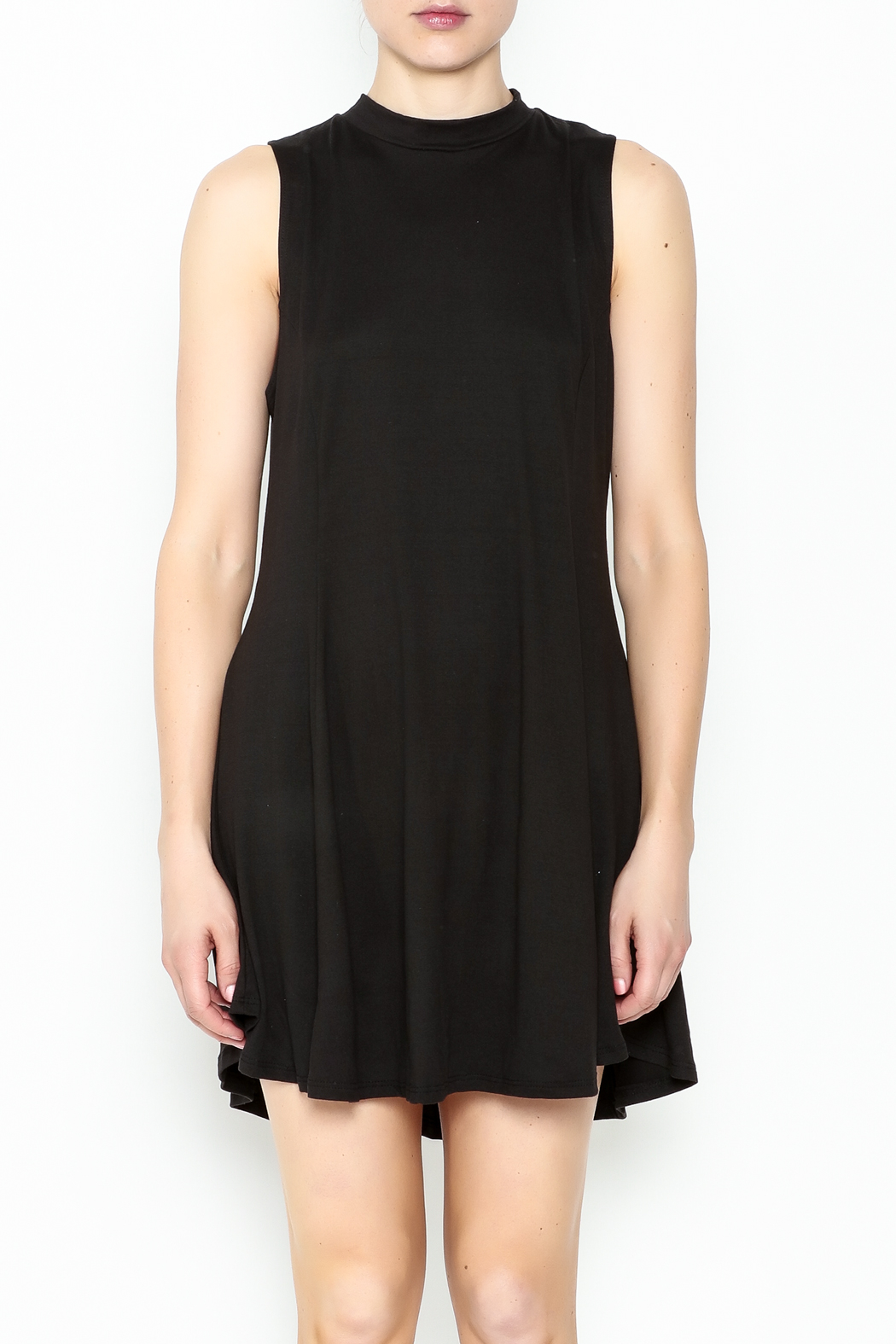 jella c Open Back Skater Dress - Front Full Image