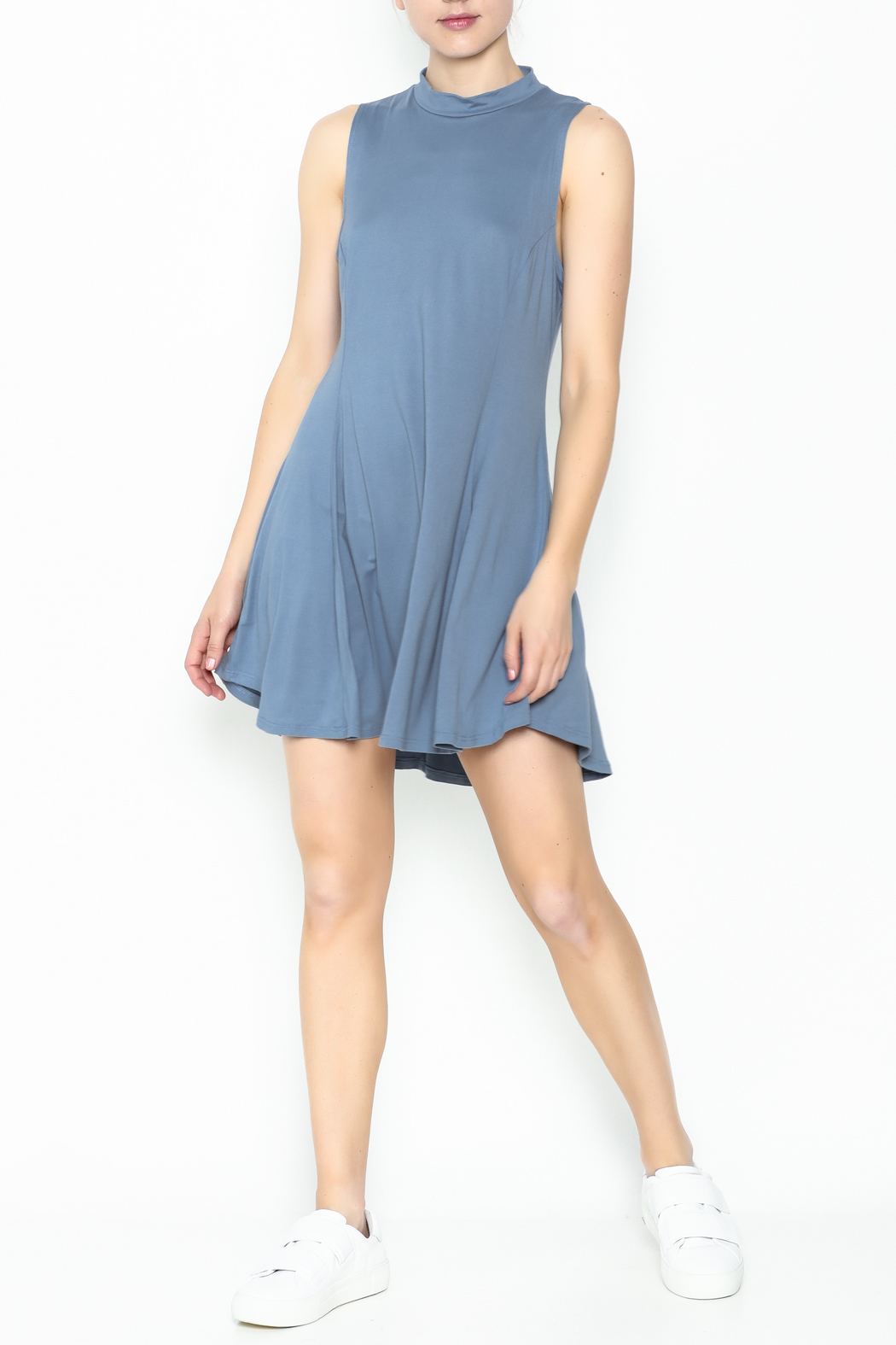 jella c Open Back Skater Dress - Side Cropped Image