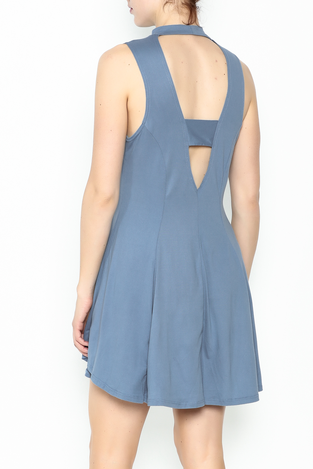 jella c Open Back Skater Dress - Back Cropped Image