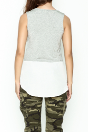 jella c Contrast Top - Back cropped