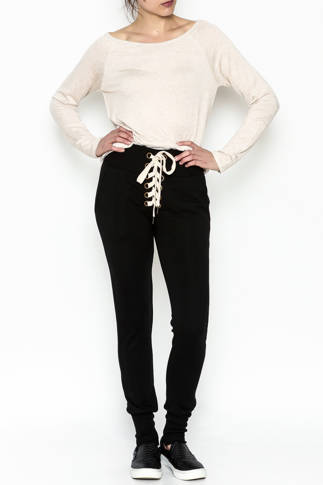 jella c Tie Front Pants - Side Cropped Image