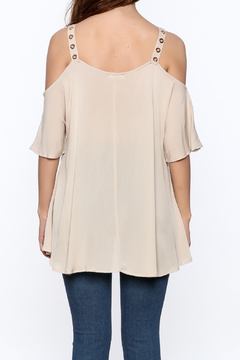 Jella Couture Beige Long Top - Alternate List Image