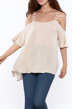 Jella Couture Beige Long Top - Product List Image