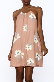 Jella Couture Floral Peach Dress - Product Mini Image