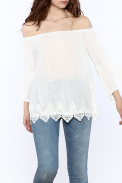 Shoptiques Product: Crochet Trim Blouse