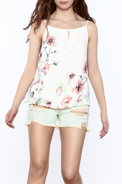 Jella Couture Floral Drawstring Top - Product List Image