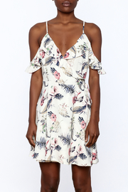 Jella Couture Floral Wrap Dress - Side cropped