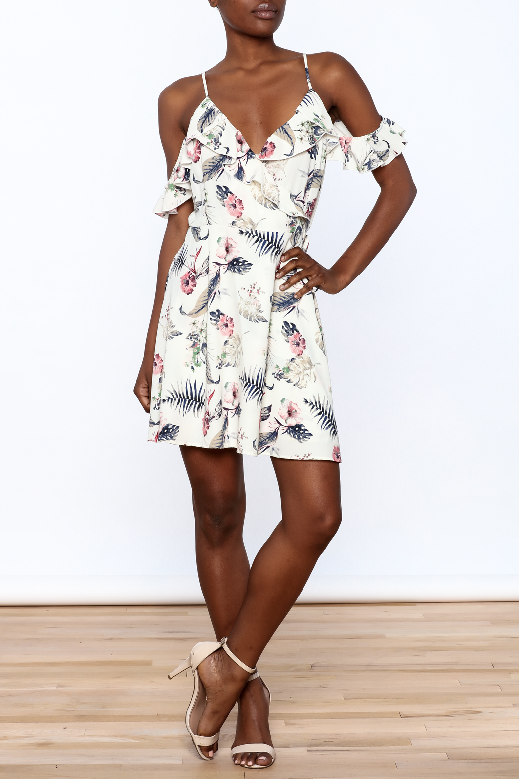 Jella Couture Floral Wrap Dress - Front Full Image