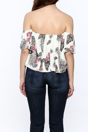 Jella Couture Leaf Print Crop Top - Back cropped