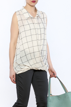 Jella Couture Plaid Sleeveless Top - Product List Image