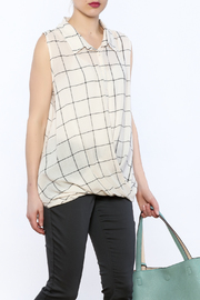 Jella Couture Plaid Sleeveless Top - Product Mini Image