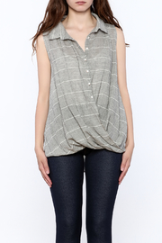 Jella Couture Grey Sleeveless Billowy Top - Side cropped