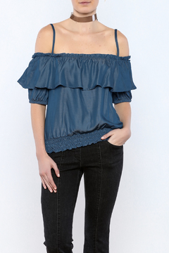 Shoptiques Product: Denim Short Sleeve Top