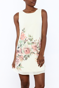 Jella Couture White Floral Sleeveless Dress - Product List Image