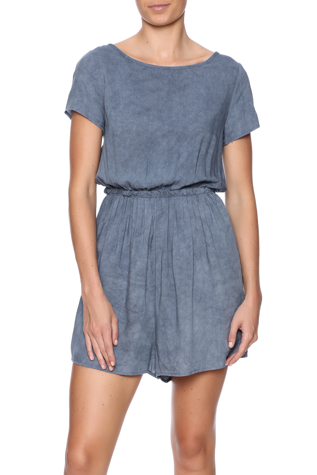 Jella Couture Washed Denim Romper - Main Image