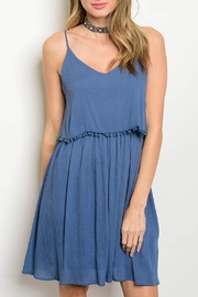 jella c Indigo Tassel Dress - Product Mini Image