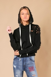 jella c Distressed Hoodie - Front full body