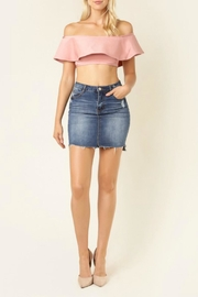 jella c Raw-Hem Denim Skirt - Product Mini Image
