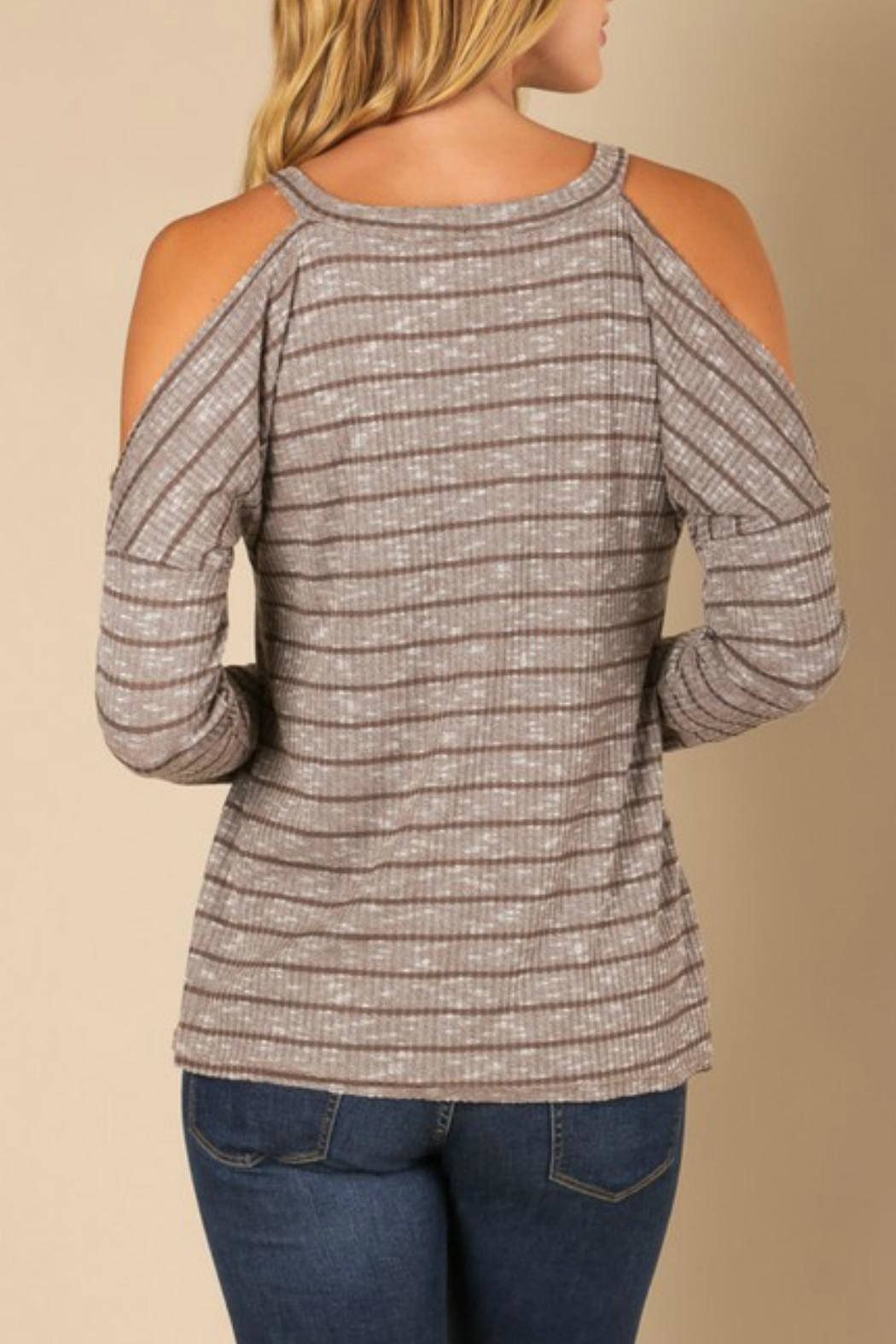 0b0f62764bdaa4 jella c Striped Cold Shoulder Top from California by Apricot Lane ...