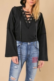 jella c Wide Sleeve Hoodie - Front full body