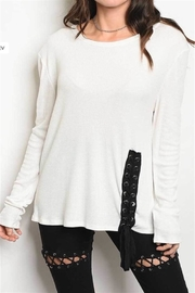 Jella Couture Lace Up Top - Product Mini Image