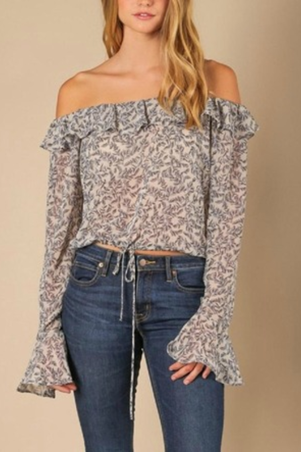 Jella Couture Off the Shoulder Top - Main Image