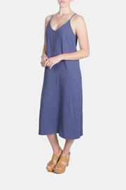 Jella Couture Periwinkle Linen Slip Dress - Side cropped