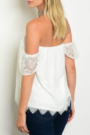 Jella Couture Taylor Lace Top - Front full body