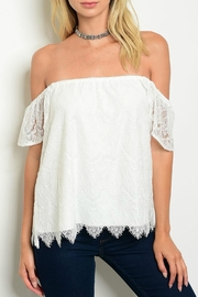 Jella Couture Taylor Lace Top - Front cropped