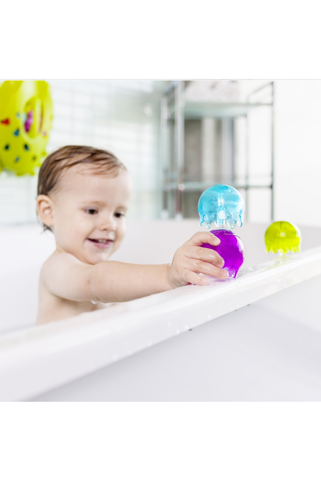 boon by Tomy Jellies Suction Cup Bath Toys - Back Cropped Image