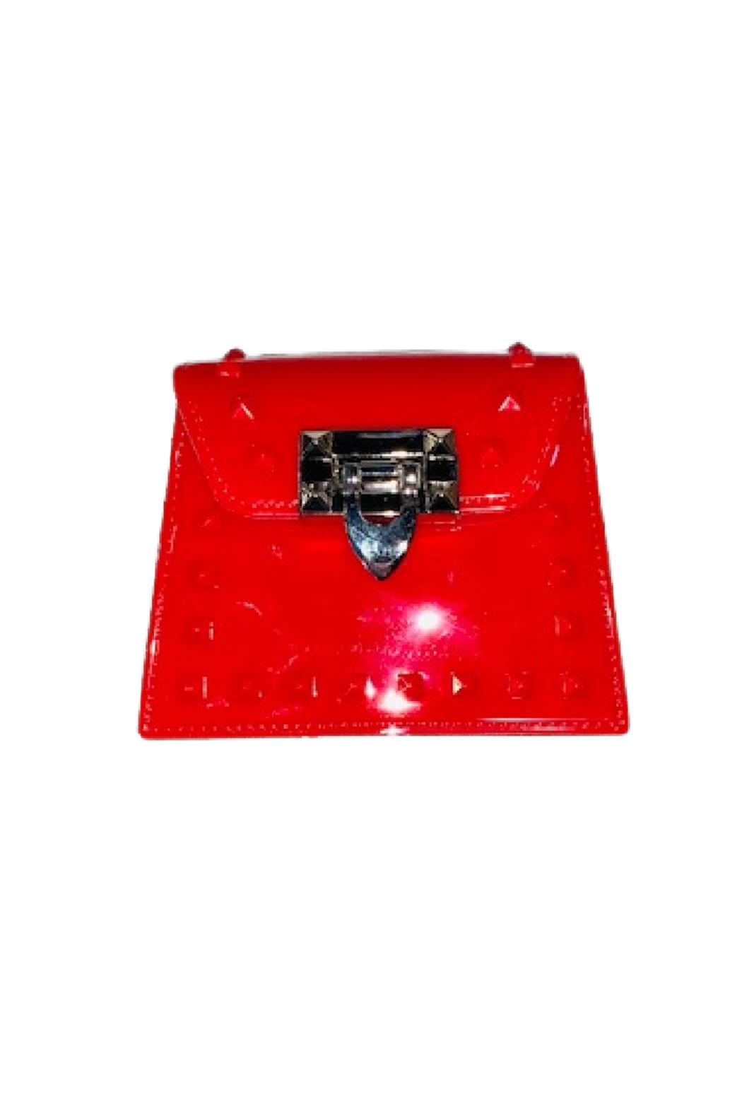 H & D Jelly Tino Glossy Purse - Front Cropped Image
