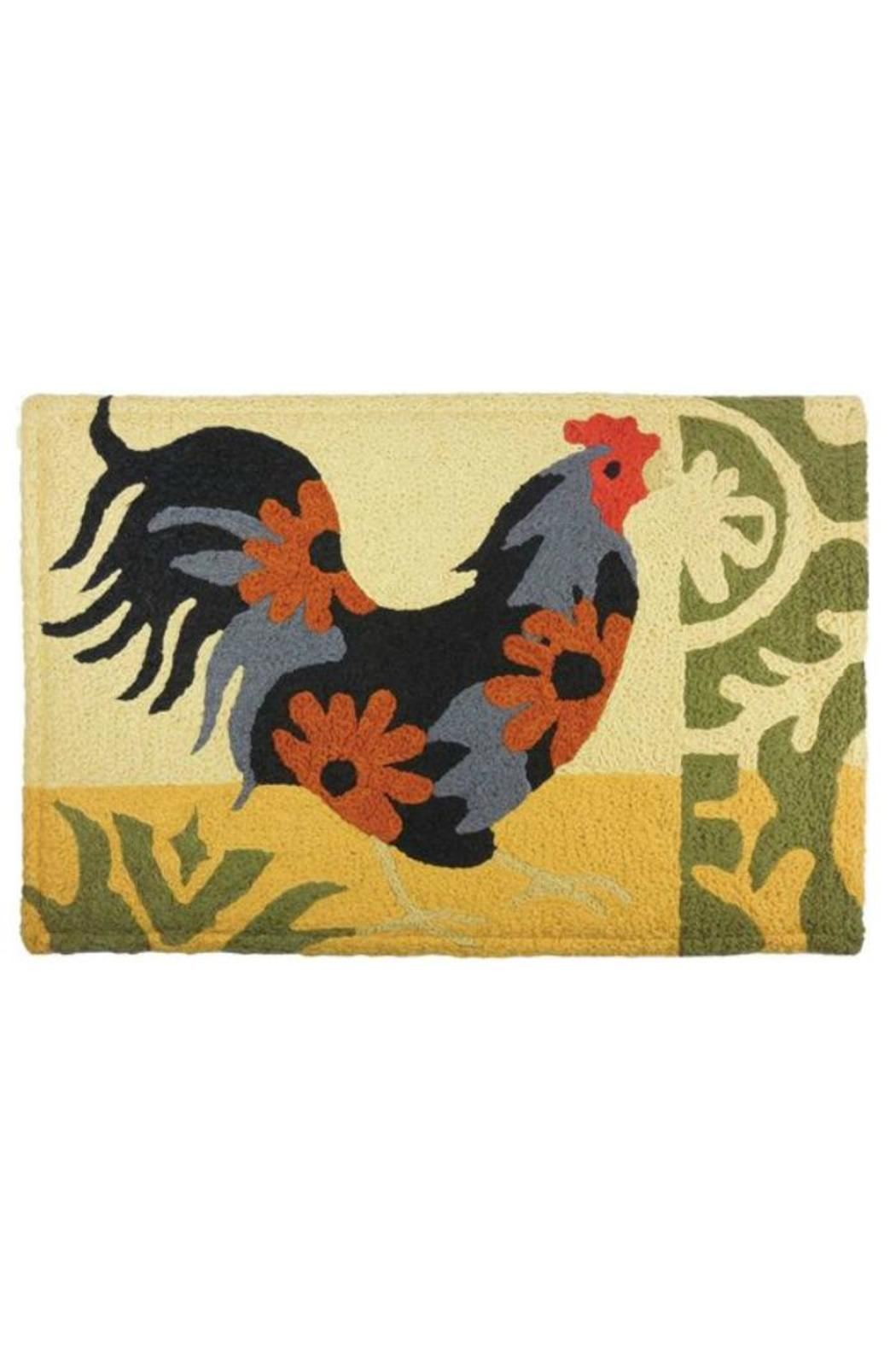 jellybean Rooster Floor Mat - Front Cropped Image