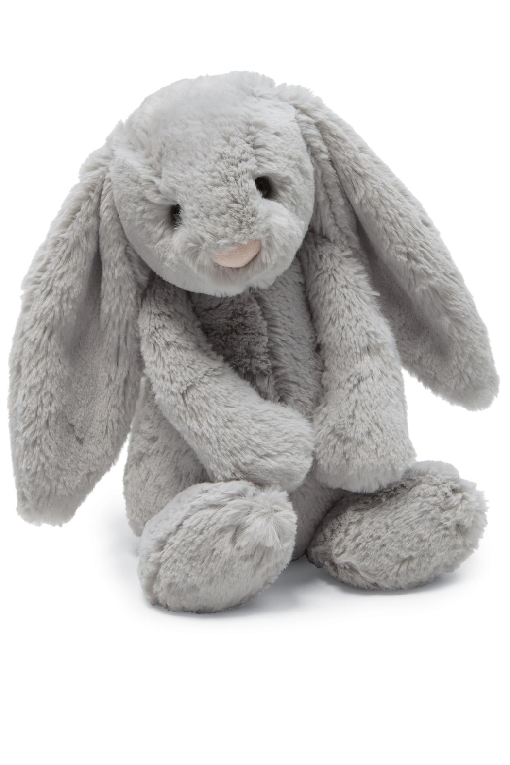 Jellycat Bashful Grey Bunny Toy - Front Cropped Image