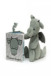 Jellycat If I Were A Dragon Book - Front full body