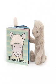 Jellycat If I Were A Llama Book - Front full body