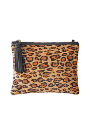 Vash  JEM LEATHER JAGUAR PRINT CLUTCH - Product Mini Image