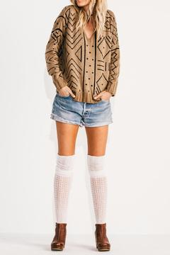 Jen's Pirate Booty Tan V Neck Sweater - Product List Image