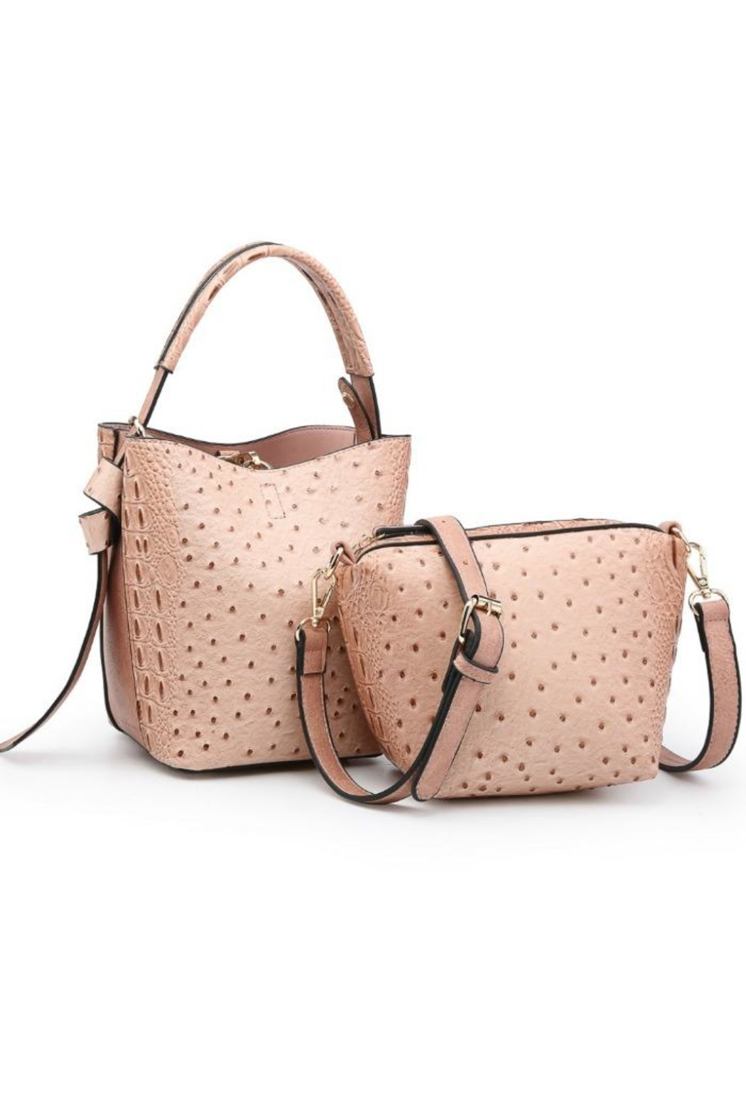 jen & co Ostrich Mini Bag - Front Cropped Image
